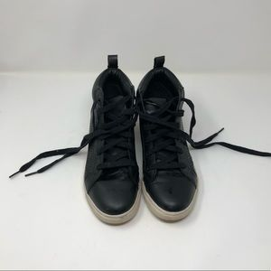 Black Lace Up Sneaker Wedge